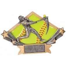 softball diamond star resin